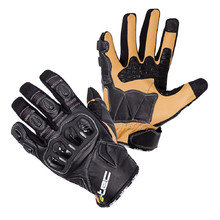 Leather Motorcycle Gloves W-TEC Flanker B-6035 - Black