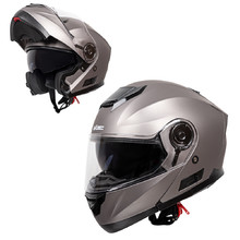 Flip-Up Motorcycle Helmet W-TEC Lanxamo - Titan Grey