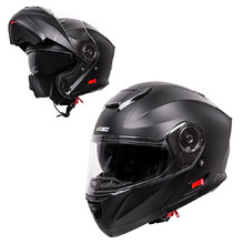 Flip-Up Motorcycle Helmet W-TEC Lanxamo - Matt Black