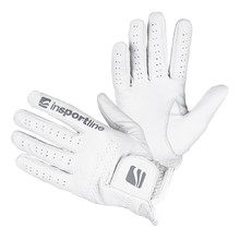 Men's Leather Gloves inSPORTline Elmgreen - Creamy White