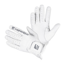 Women's Leather Gloves inSPORTline Elmgreen Lady - Creamy White