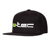 Snapback Hat W-TEC Russjack - Black with Green-White Logo