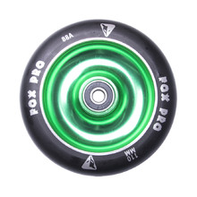 Spare Wheel for Scooter FOX PRO Raw 110 mm - Black-Green II