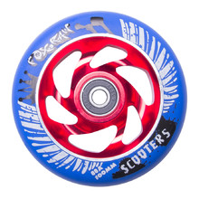 Spare wheel for scooter FOX PRO Raw 03 100 mm - Blue-Red