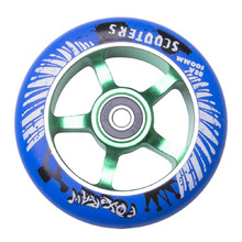 Spare wheel for scooter FOX PRO Raw 03 100 mm - Blue-Green