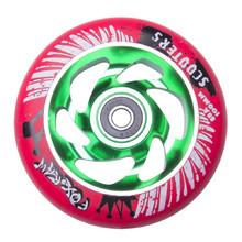 Spare wheel for scooter FOX PRO Raw 03 100 mm - Red-Green