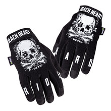 Motorcycle Gloves W-TEC Black Heart Web Skull - Black