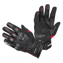 Leather Motorcycle Gloves W-TEC Legend - Black-Red