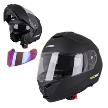 Flip-Up Motorcycle Helmet W-TEC FS-907 P/J - Black Matt