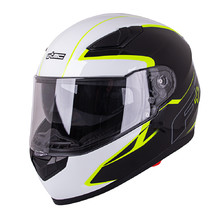 Motorcycle Helmet W-TEC FS-816 Black-Fluo Yellow