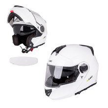 Flip-Up Motorcycle Helmet W-TEC V270 PP - White