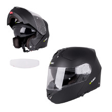 Flip-Up Motorcycle Helmet W-TEC V270 PP - Matte Black