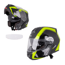 Flip-Up Motorcycle Helmet W-TEC V270 PP - Black-Green