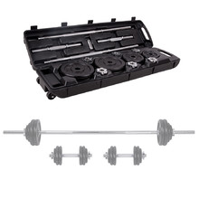 Barbell and Dumbbell Set with a Case inSPORTline 50 kg