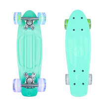 "Mini Penny Board WORKER Pico 17"" with Light Up Wheels - Blue"
