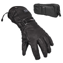 Heated Leather Ski and Moto Gloves Glovii GS5 - Black