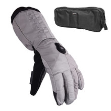 Heated Ski/Motorcycle Gloves Glovii GS8 - Grey
