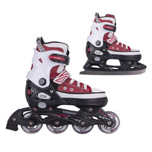 2-in-1 Skates/Rollerblades WORKER Gondo Red