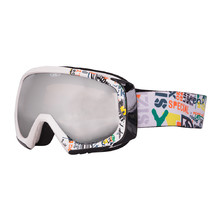 Ski Goggle WORKER Hiro with Graphic Print - White Graphics