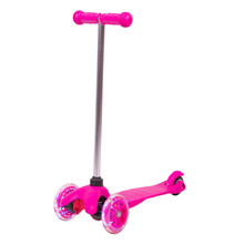 Children's Tri Scooter WORKER Lucerino with Light-Up Wheels - Pink