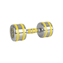 Chrome Dumbbell inSPORTline Yellsteel 10 kg