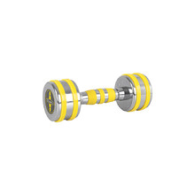 Chrome Dumbbell inSPORTline Yellsteel 4 kg