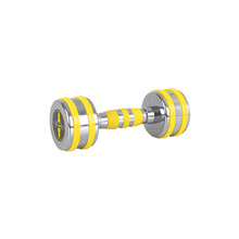 Chrome Dumbbell inSPORTline Yellsteel 5 kg
