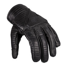 Leather Motorcycle Gloves W-TEC Brillanta - Black