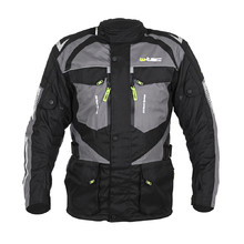 Men's Motorcycle Jacket W-TEC Burdys Evo - Black-Grey