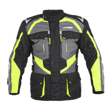 Men's Motorcycle Jacket W-TEC Burdys Evo - Black-Grey-Green