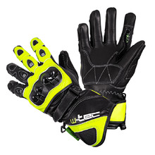 Motorcycle Gloves W-TEC Supreme EVO - Black-Green