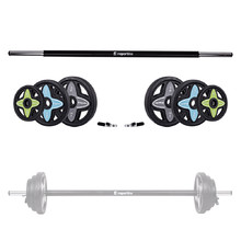 Barbell + Weight Plate Set inSPORTline Pumpstar 2 – 20kg