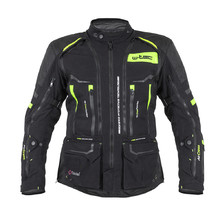Motorcycle Jacket W-TEC Aircross - Black-Fluo Yellow