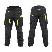Motorcycle Pants W-TEC Aircross - Black-Fluo Yellow