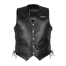 Leather Motorcycle Vest W-TEC Rockridge
