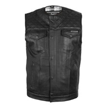 Leather Motorcycle Vest W-TEC Losango
