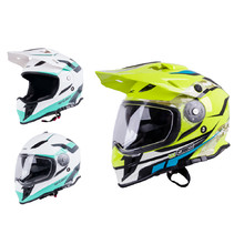 Motorcycle Helmet W-TEC V331 - Black-Green-Yellow
