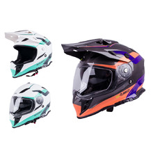 Motorcycle Helmet W-TEC V331 - Black-Blue-Orange