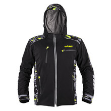 Men's Softshell Motorcycle Jacket W-TEC Kybero - Black-Fluo
