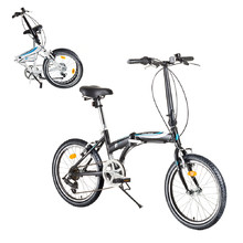 "Folding Bike DHS Folder 2095 20"" – 2017 - Black-Blue"