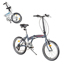 "Folding Bike DHS Folder 2095 20"" – 2017 - Gray-Red"