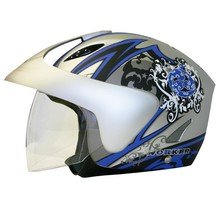 WORKER V520 Motorcycle Helmet - Sale - Silver Graphics.