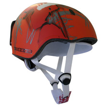 WORKER Flux Snowboard Helmet - Red and Graphics