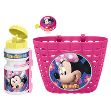 Bicycle Set Minnie Mouse (Basket, Water Bottle, Bell)