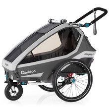 Multifunctional Bicycle Trailer Qeridoo KidGoo 1 2020 - Anthracite Grey