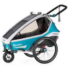 Multifunctional Bicycle Trailer Qeridoo KidGoo 1 2020 - Petrol Blue