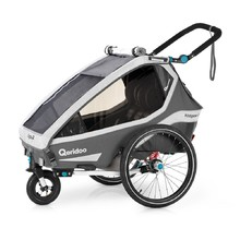 Multifunctional Bicycle Trailer Qeridoo KidGoo 2 2020 - Anthracite Grey