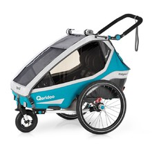 Multifunctional Bicycle Trailer Qeridoo KidGoo 2 2020 - Petrol Blue