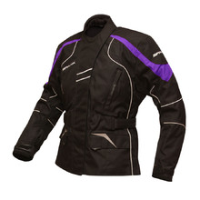 Women's Motorcycle Jacket Spark Lady Berry - Black-Violet