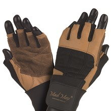 Fitness Gloves Mad Max Professional - Brown-Black